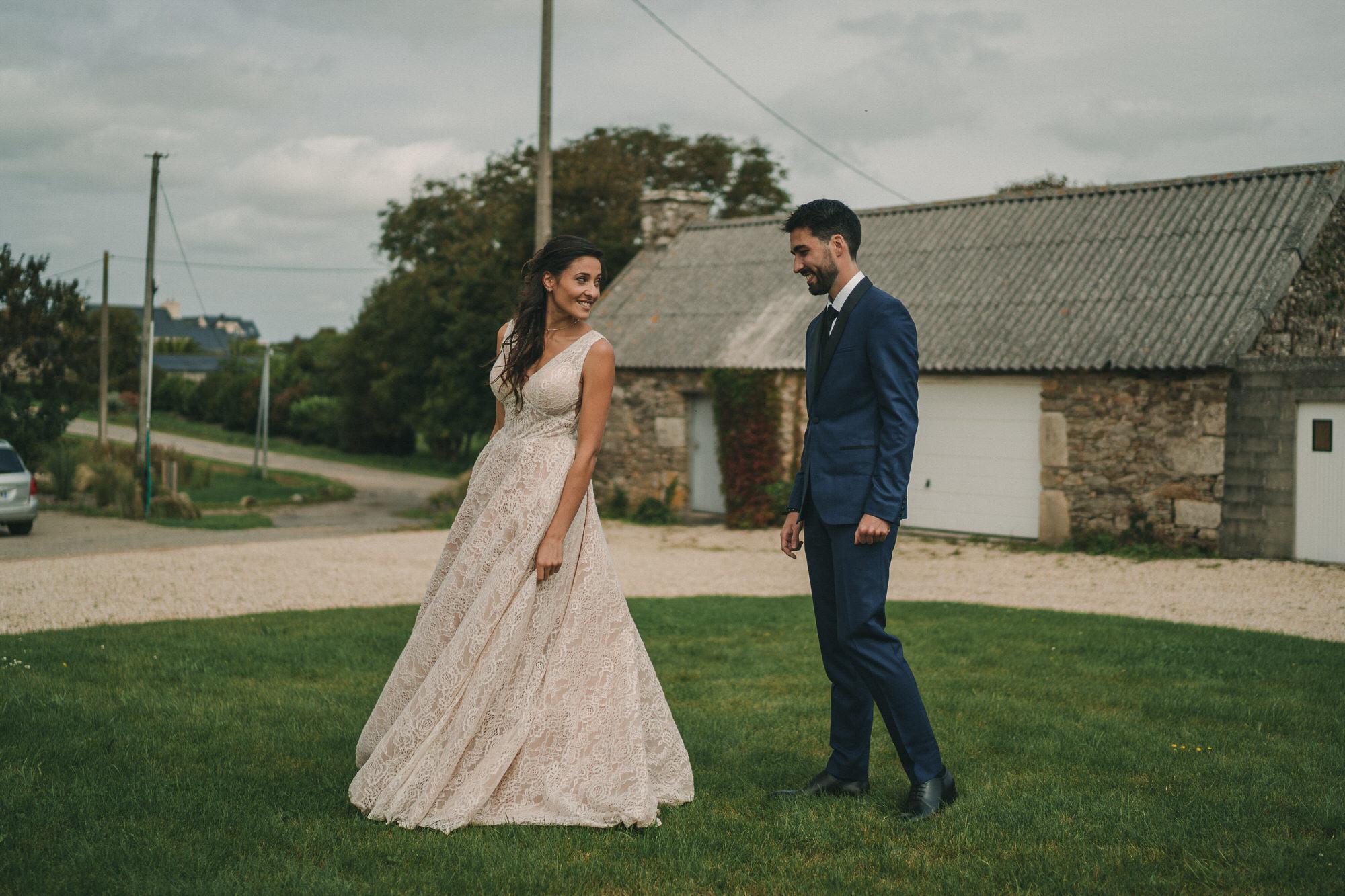Préparatifs des mariés photo de mariage à La Grange Neuve à Plougonvelin