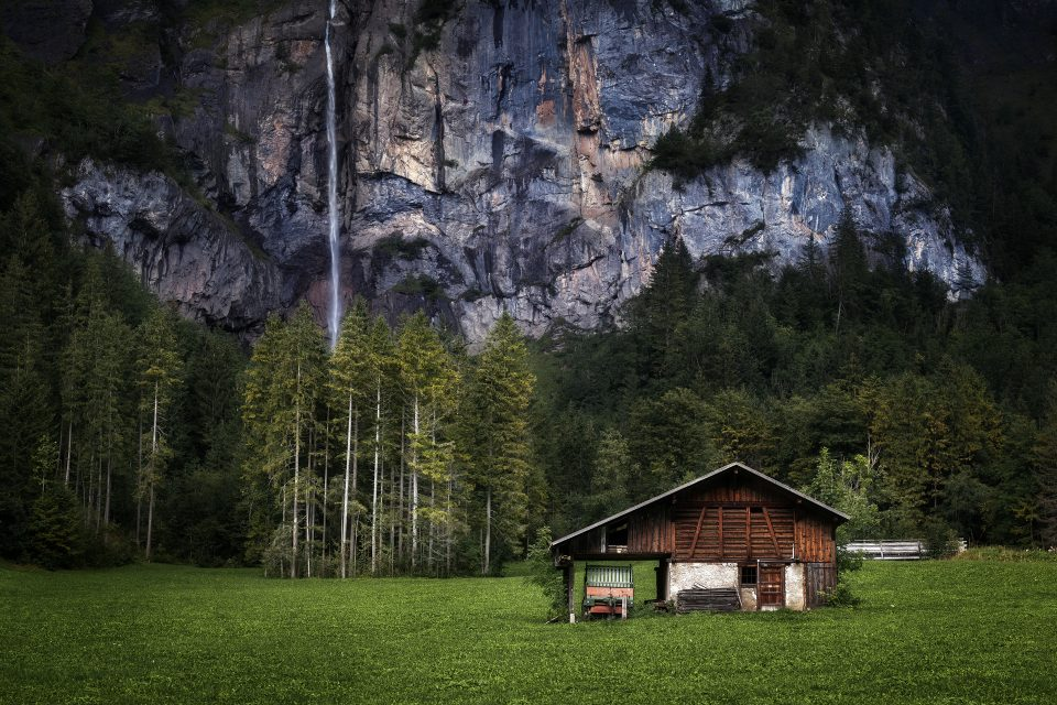 Typical Swiss barn