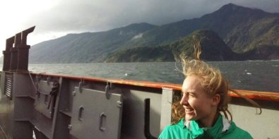 Ferry in southern Chile near Puerto Montt on an off day from coaching