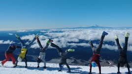 Handstands at the top of Timberline