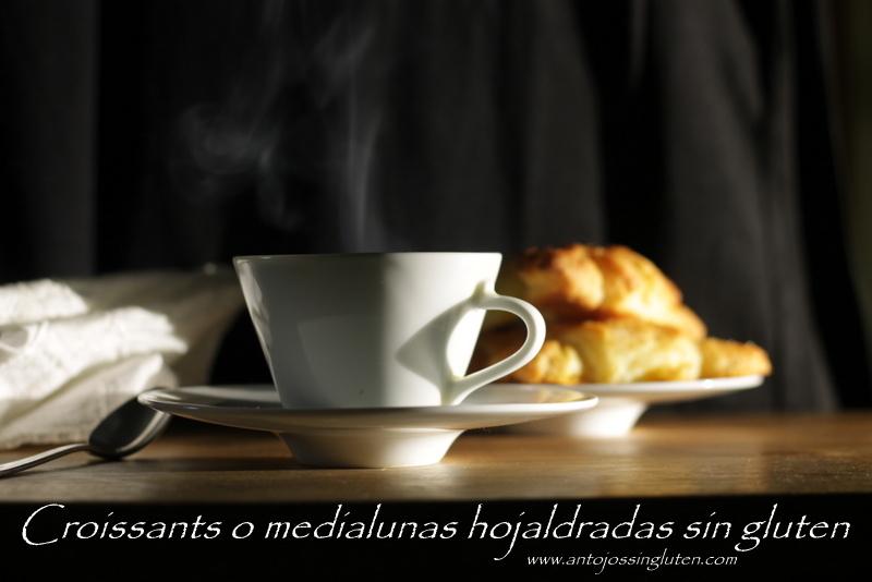 Croissants hojaldrados sin gluten