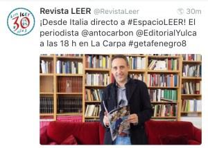 Tweet - Intervista nella redazione di LEER (Madrid)