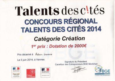 Prix Talents des Cités 2014