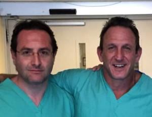 perito e antonini in sala operatoria