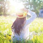 Pelle al sole a primavera
