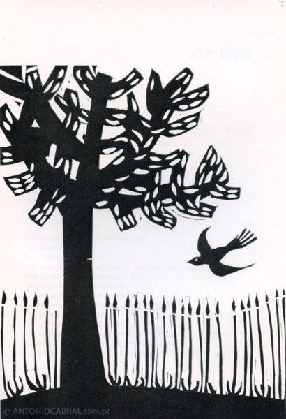 Ilustração de Nuno Barreto para Poemas Durienses de António Cabral