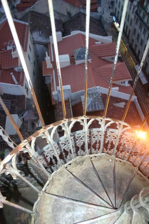 Escalera del Mirador de Santa Justa.