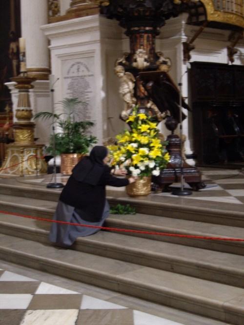 Catedral de Granada, arreglo floral.