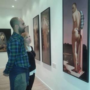 Antonio e Franca in una pinacoteca