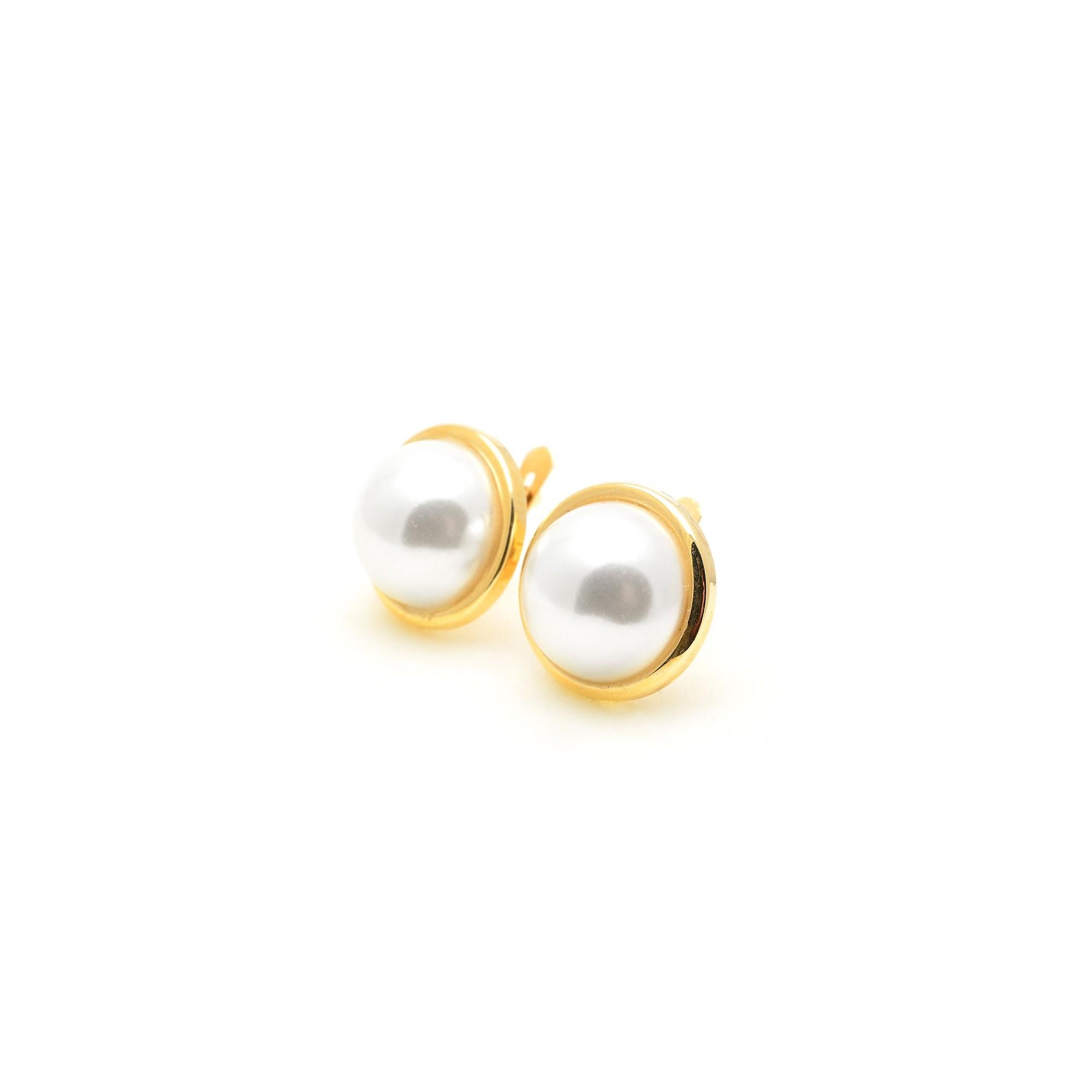 Pendientes Oro Mujer Perla Japonesa