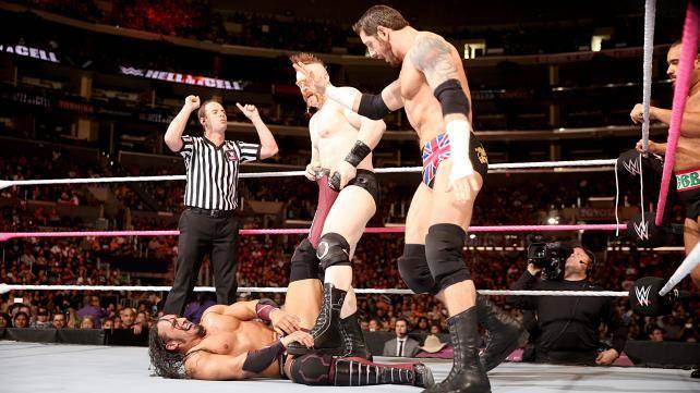 Dolph Ziggler, Cesaro & Neville def. Rusev, Sheamus & King Barrett