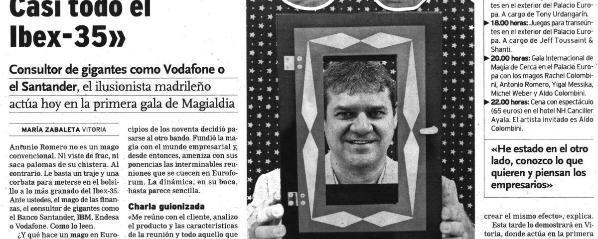 Entrevista a Antonio Romero