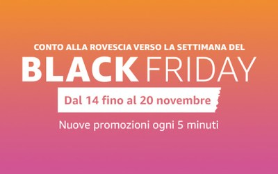 Black Friday: su Amazon.it parte il conto alla rovescia