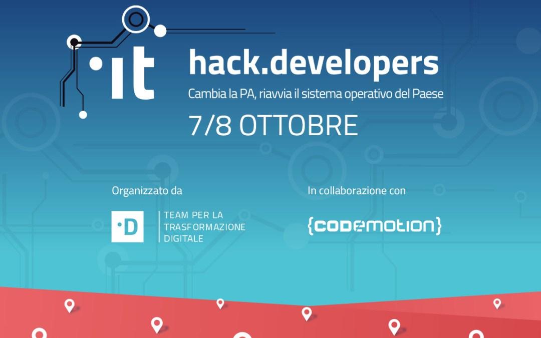 HACK.DEVELOPERS – Il più grande hackathon italiano per una PA a misura di cittadino