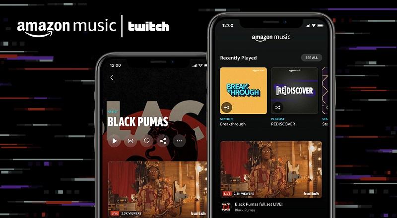 Amazon Music e Twitch insieme per offrire la possibilità di realizzare live streaming musicali con ascolto on demand