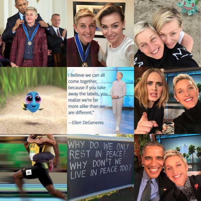 The Ellen Show. Estas son sus #2016BestNine del 2016. Con 249.715.618 likes en 954 publicaciones en 2016.