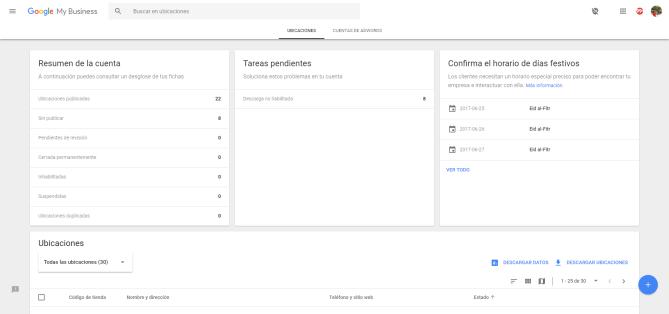 gestionar todas las ubicaciones en google my business