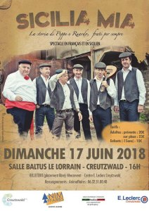 Spectacle Sicilia Mia le 17 juin 2018 à Creutzwald