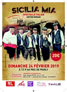 Spectacle Sicilia Mia, Anton Roman 24 février 2019