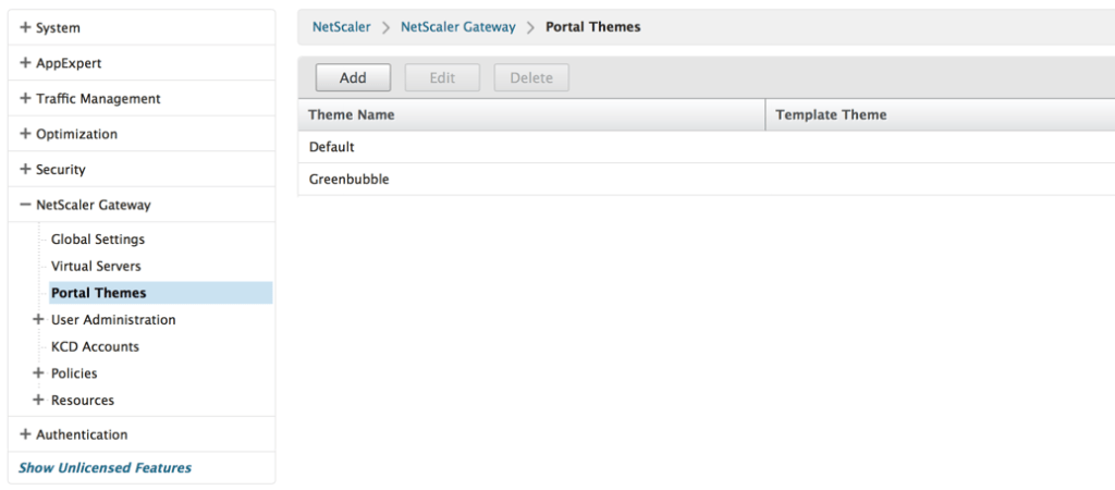 default portal themes
