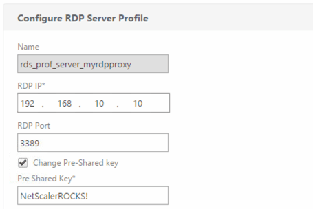 RDP Server Profile