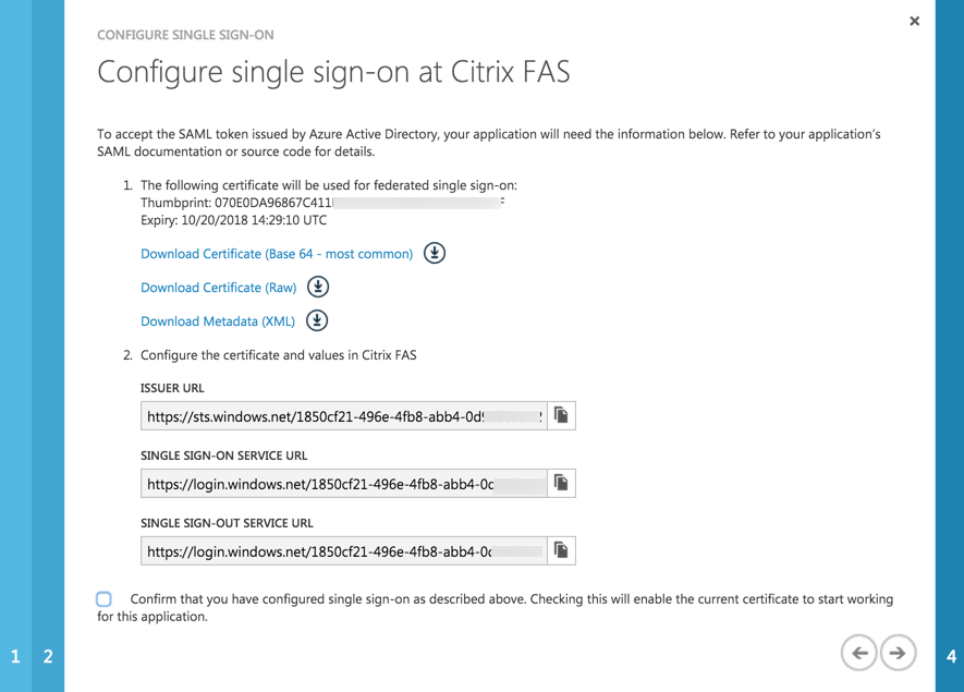 Use Azure AD as IdP for Citrix NetScaler (FAS