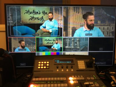Anton presenting for Cambridge TV