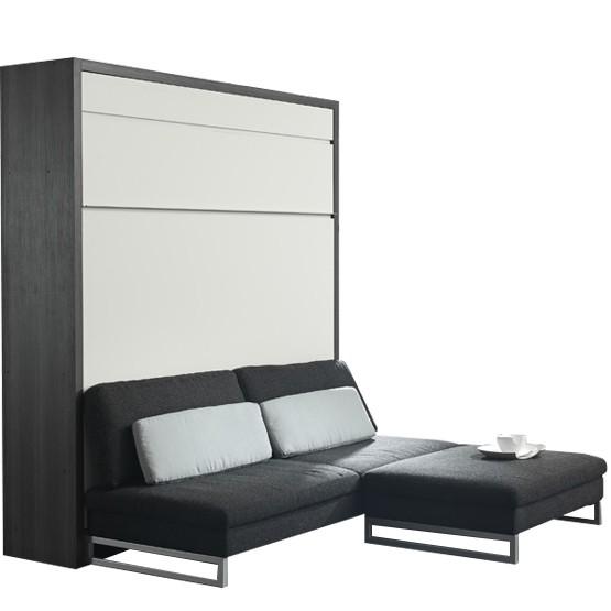 lit escamotable loft banquette couchage 140 x 200
