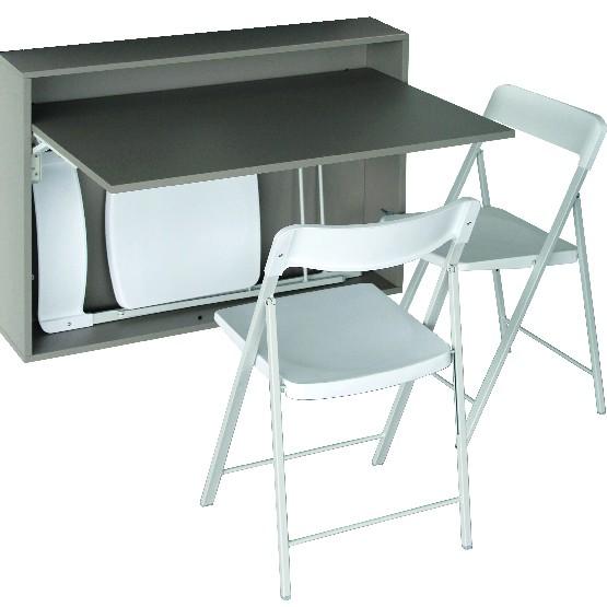 table murale repliable 3 chaises zeta