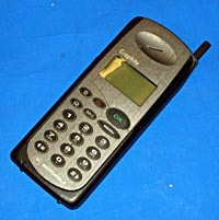 Image: What my first phone looked like - what the image doesn't show is the credit card sized SIM card or the massive brick-sized battery.