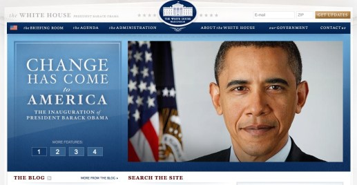 Image: New & improved, social media style White House website