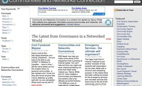 A very useful site: Communities and Networks Connection