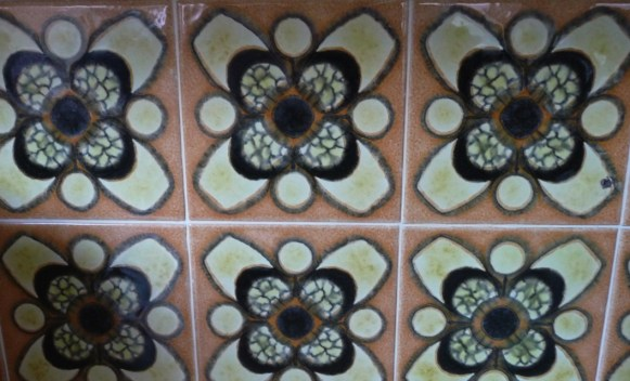 I'm curating the contents of the 70s decor in my house at the moment - these are the kitchen tiles...