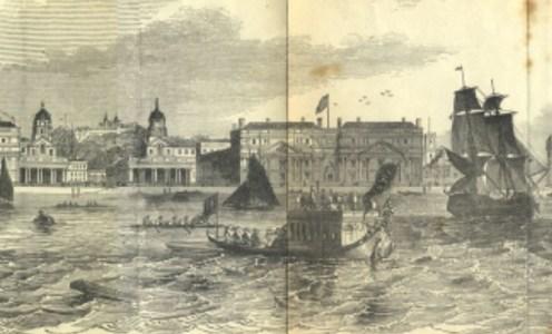 London's riverside in 1849