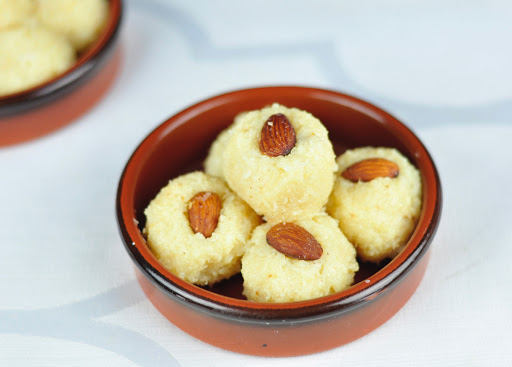 COCONUT LADOO WITH CONDENSED MILK IN 15 MINS