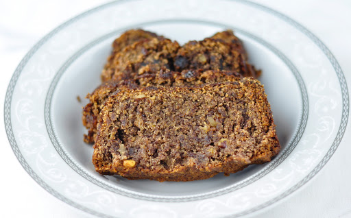 ragi (finger millet) banana walnut bread