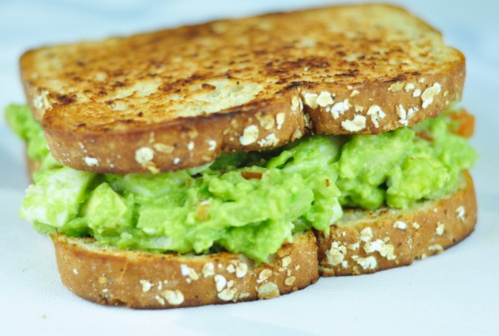 AVOCADO SANDWICH WITH HARD BOILED EGG