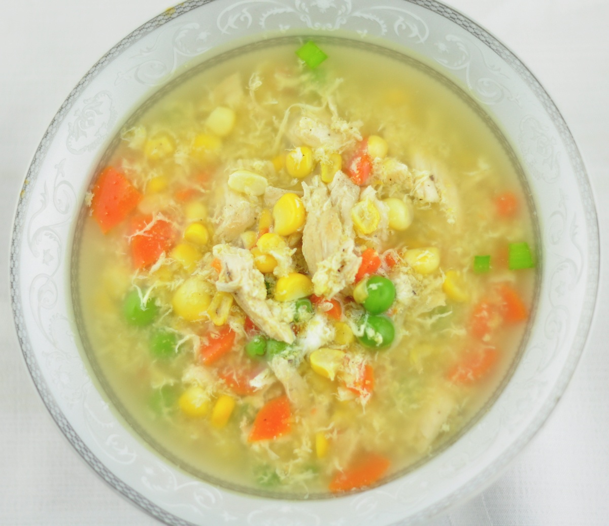 sweet corn and chicken soup