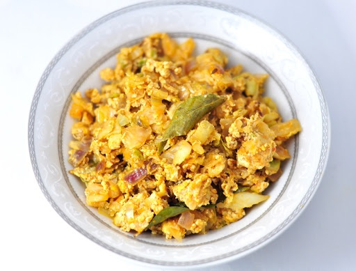 cabbage egg bhurji