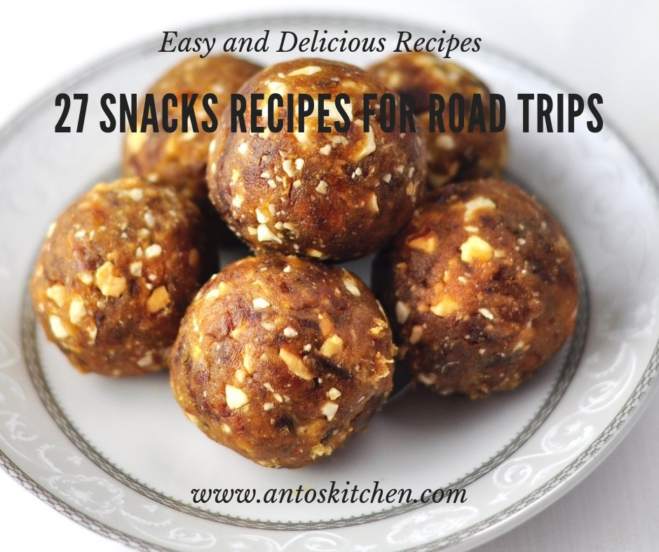 27 snacks recipes for road trips