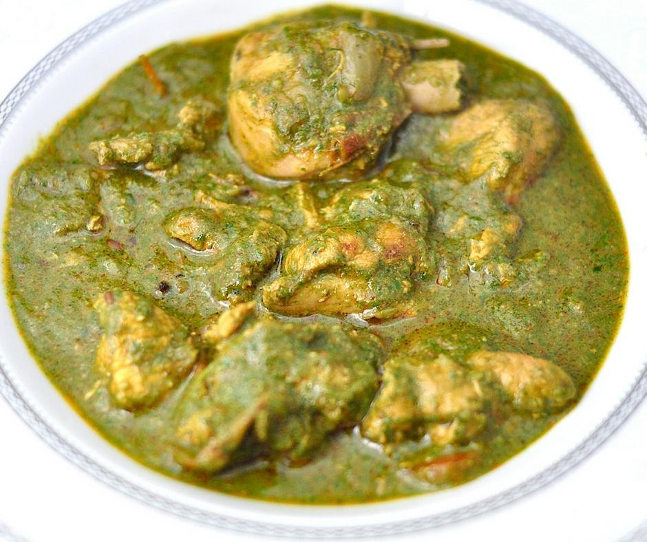 palak chicken curry
