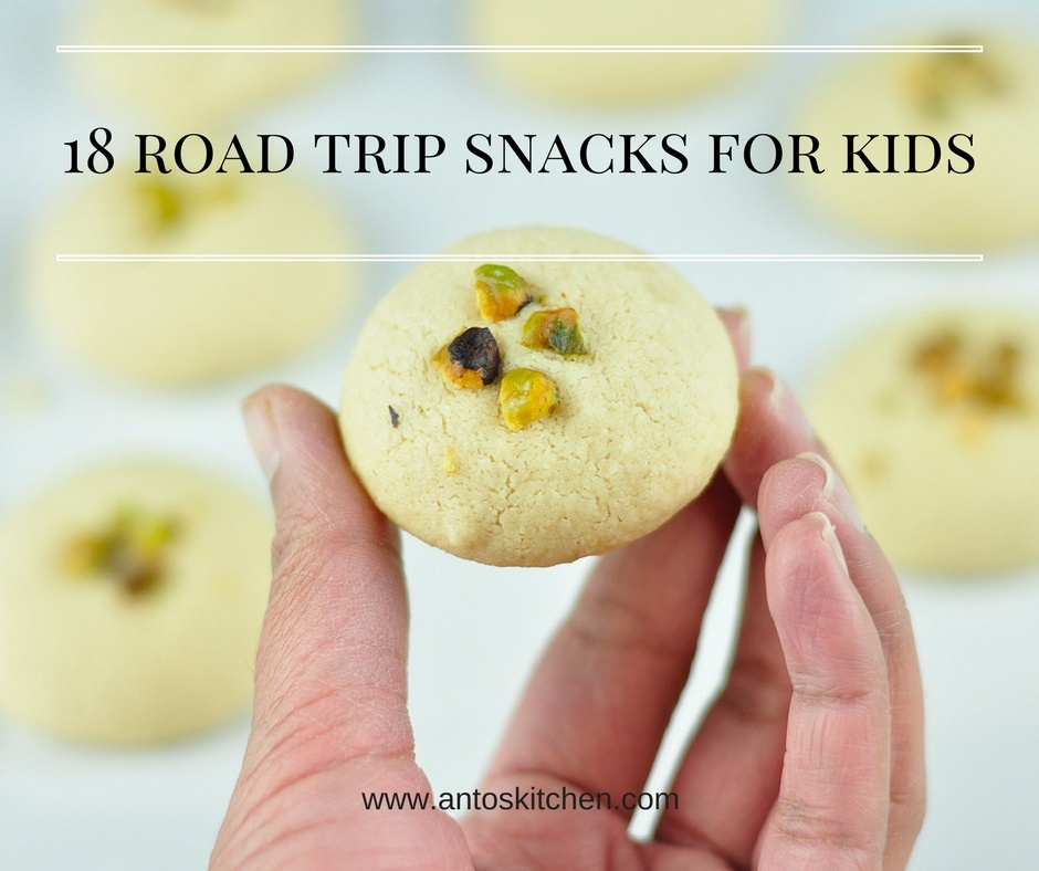 18 kids snacks recipes for road trips