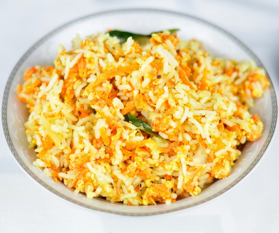 CARROT RICE WITH EGGS – AN EASY LUNCH BOX RECIPE