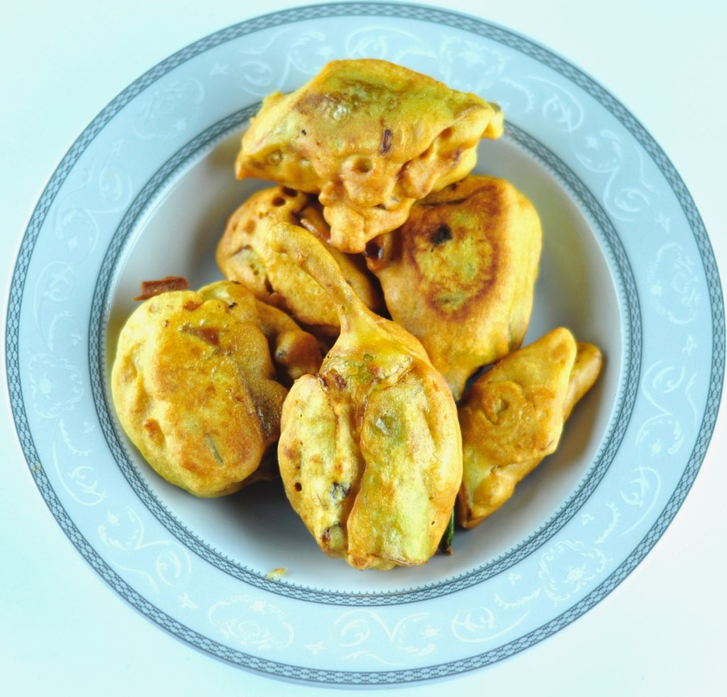 How to make stuffed mirchi bajji