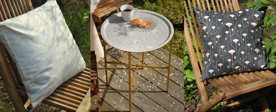 Vårfint hemma med kuddfodral och brickbord