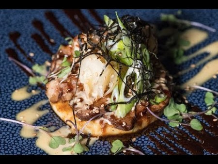 Chef's Challenge – Japanese Okonomiyaki with Marinated Shrimp by Chef Connor McQuay