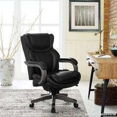 La Z Boy Big Tall Executive Leather Office Chair Black Ergonomic Vienna 46253a Bonded B074p9vs7c