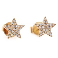 Buy The Rose Gold Star Stud Diamond Earrings Online ...