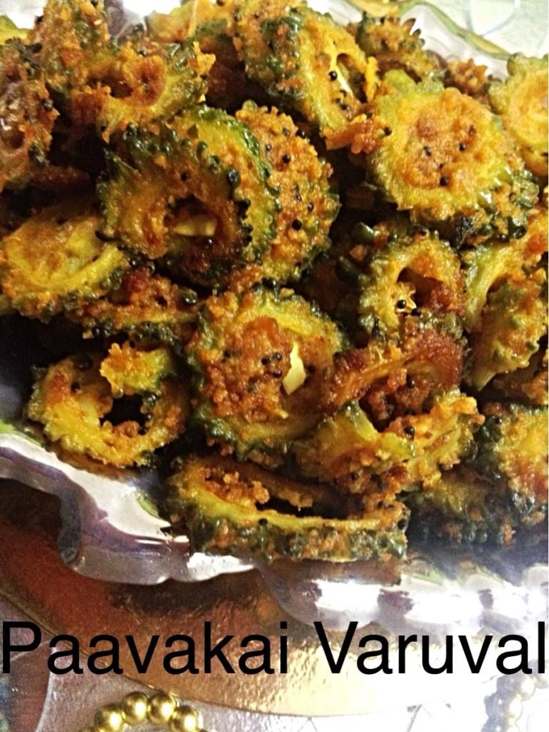 Paavakai Varuval( Bitter gourd stir fry)