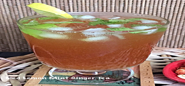 Iced Lemon Mint Ginger Tea